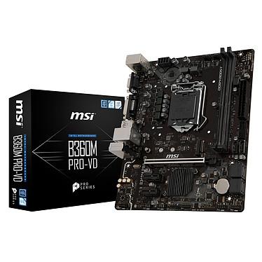 MSI B360M PRO-VD Carte mère Micro ATX Socket 1151 Intel B360 Express - 2 x DDR4 - SATA 6Gb/s + M.2 - USB 3.0 - 1x PCI-Express 3.0 16x