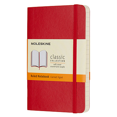 Moleskine Classic Soft Pocket Ruled Rouge
