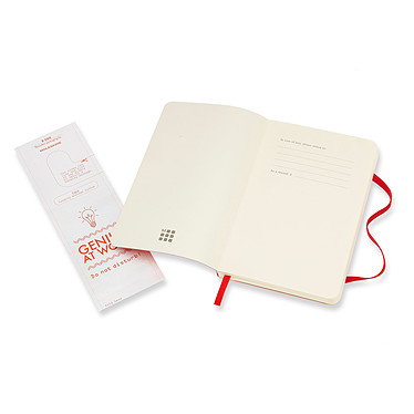 Moleskine Classic Soft Pocket Ruled Rouge  pas cher