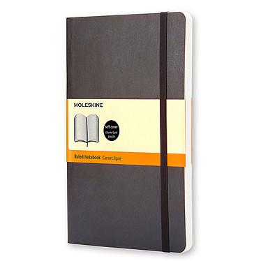 Moleskine Classic Soft Large Ruled Noir Carnet classic à couverture souple grand format ligné - 13 x 21 cm