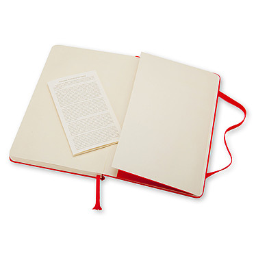 Moleskine Classic Hardcover XL Ruled Rouge pas cher