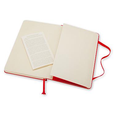 Moleskine Classic Hardcover Large Ruled Rouge  pas cher