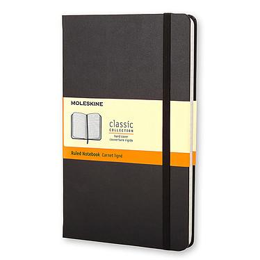 Moleskine Classic Hardcover Pocket Ruled Noir  Carnet classic à couverture rigide format de poche ligné - 9 x 14 cm
