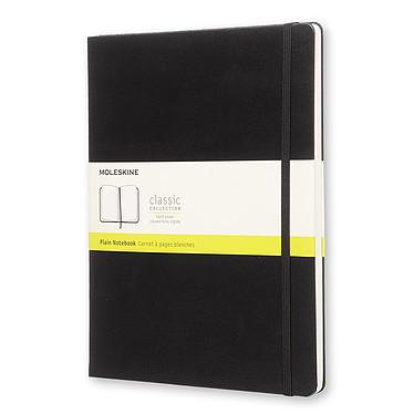 Moleskine Classic Hardcover XL Plain Noir Carnet classic à couverture rigide très grand format page blanche - 19 x 25 cm