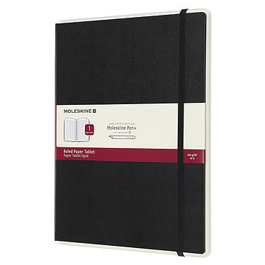 Moleskine Paper Tablet Hardcover XL Ruled Noir