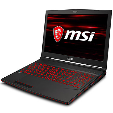 "MSI GL63 8RD-021XFR Intel Core i5-8300H 8 Go SSD 128 Go + HDD 1 To 15.6"" LED Full HD NVIDIA GeForce GTX 1050 Ti 4 Go Wi-Fi AC/Bluetooth Webcam FreeDOS (garantie constructeur 2 ans)"