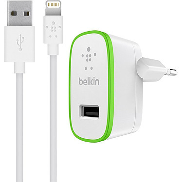 Belkin Chargeur secteur USB Boost Up + Câble (F8J125vf04-WHT) Chargeur secteur USB 12W avec Câble Lightning Made for Iphone