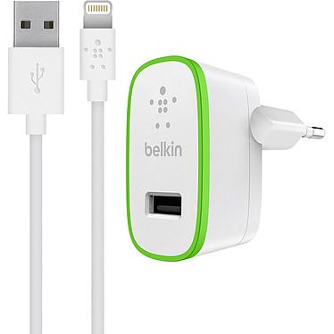 Belkin Chargeur secteur USB Boost Up + Câble (F8J125vf04-WHT) Chargeur secteur avec câble Lightning pour iPhone et iPad - Blanc