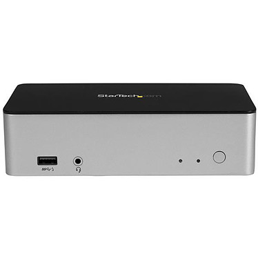 """StarTech.com MST30C2HDPPD Station d'accueil USB-C double affichage - Double DisplayPort - Baie de lecteur de disque dur/SSD SATA 2,5"""""""