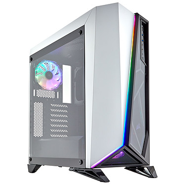 Corsair Carbide SPEC-OMEGA RGB Blanc/Noir Boîtier Moyen Tour avec fenêtre en verre trempé
