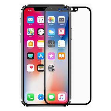 Akashi Film Verre Trempé iPhone X / iPhone Xs Film de protection intégral en verre trempé pour Apple iPhone X / iPhone Xs