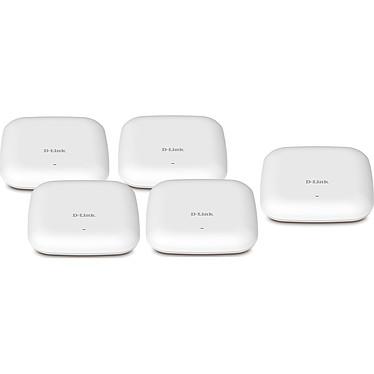 D-Link DAP-2660 x5 Pack de 5 points d'accès sans fil 1200 Mbps Wi-Fi AC dual band PoE