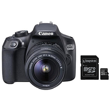 Canon EOS 1300D + EF-S 18-55 mm DC III + Kingston Canvas Select SDCS/16GB