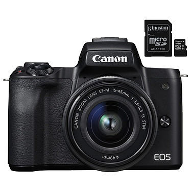 Canon EOS M50 Noir + EF-M 15-45 mm IS STM Noir + Kingston Canvas Select SDCS/16GB