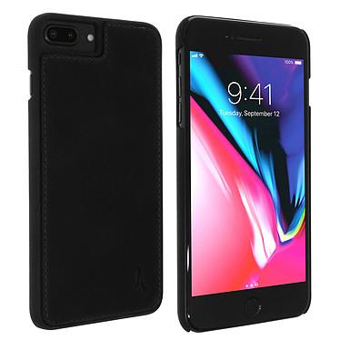 Akashi Coque Cuir Italien Noir iPhone 8 Plus