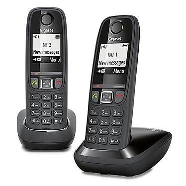 Gigaset AS470 Duo Noir  Téléphone sans fil mains-libres avec 1 combiné supplémentaire