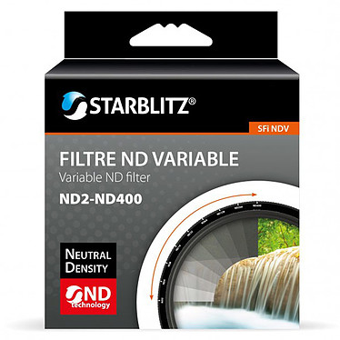 Starblitz SFINDV67 Filtre à densité neutre variable ND2 à ND400 67 mm