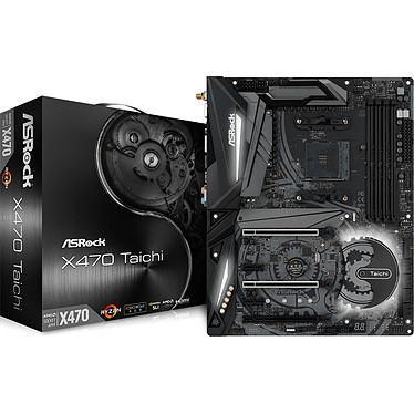 ASRock X470 Taichi Carte mère ATX Socket AM4 AMD X470 - 4x DDR4 - SATA 6Gb/s + M.2 - USB 3.1 - 2x PCI-Express 3.0 16x - LED