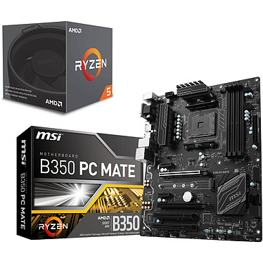 Kit Upgrade PC AMD Ryzen 5 1600 MSI B350 PC MATE