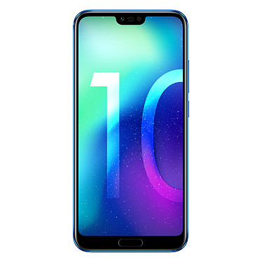 "Honor 10 Bleu Smartphone 4G-LTE Advanced Dual SIM - Kirin 970 8-Core 2.36 GHz - RAM 4 Go - Ecran tactile 5.84"" 1080 x 2280 - 64 Go - Bluetooth 4.2 - 3400 mAh - Android 8.1 (version française)"