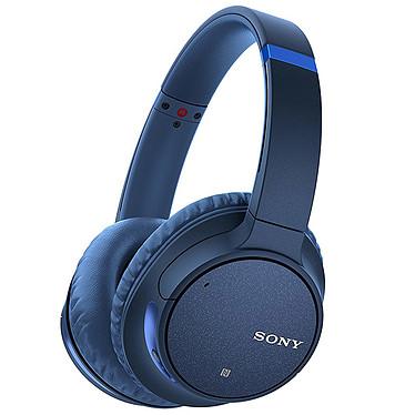 Sony WH-CH700N Bleu Casque circum-auriculaire fermé sans fil Bluetooth et NFC avec réduction de bruit numérique et appels mains libres