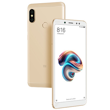 "Xiaomi Redmi Note 5 Or (3 Go / 32 Go) Smartphone 4G-LTE Dual SIM - Snapdragon 636 Octo-Core 1.8 GHz - RAM 3 Go - Ecran tactile 5.99"" 1080 x 2160 - 32 Go - NFC/Bluetooth 5.0 - 4000 mAh - Android 8.1"