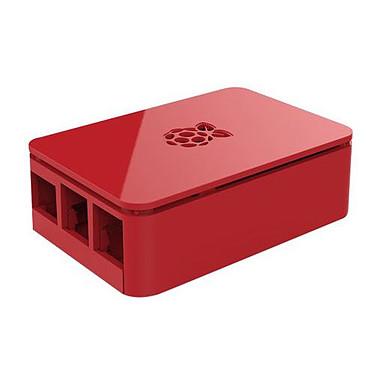 Boitier pour Raspberry Pi 3 B+ (Rouge) Boîtier en plastique pour carte Raspberry Pi 3 B+
