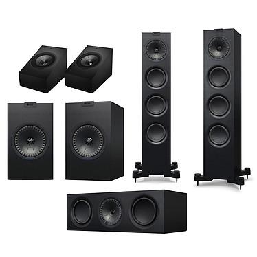 KEF Q550 System Atmos Noir Pack d'enceintes 5.0.2 Dolby Atmos