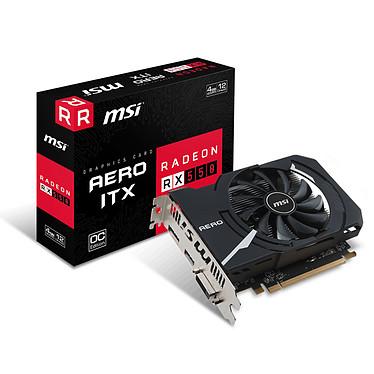 MSI Radeon RX 550 AERO ITX 4G OC 4 GB DVI/HDMI/DisplayPort - PCI Express (AMD Radeon RX 550)