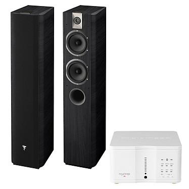 Micromega MyAmp Blanc + Focal Chorus 615 Black Style Amplificateur stéréo intégré 2 x 60W Bluetooth et DAC USB + Enceinte colonne (par paire)