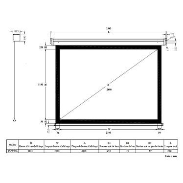 Optoma HD270e + LDLC Ecran manuel - Format 16:9 - 220 x 124 cm pas cher