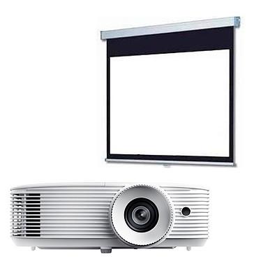 Optoma HD270e + LDLC Ecran manuel - Format 16:9 - 220 x 124 cm Vidéoprojecteur Full HD 1080p Full 3D 3400 Lumens HDMI/MHL avec haut-parleur intégré + Ecran manuel - Format 16:9 - 220 x 124 cm