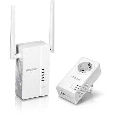 TRENDNet TPL-430APK Kit Wi-Fi CPL 1200 AV2 / TPL-421E Adaptateur CPL 1200 AV2 avec prise électrique + TPL-403AP Adaptateur CPL 1200 AV2 Wi-Fi AC Dual Band  avec 3 ports Ethernet Gigabit
