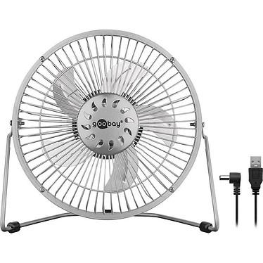 """Goobay Mini ventilateur USB 8'"""" (Argent) Ventilateur de bureau 20 cm sur port USB en métal"""