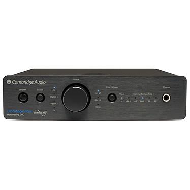 Cambridge DacMagic Plus Noir Convertisseur N/A avec double DAC 24 bits / 192 kHz, 4 entrées numériques, entrée USB asynchrone et sortie casque