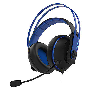 ASUS Cerberus V2 Bleu Casque-micro pour gamer (compatible PC / Mac / PlayStation 4 / Xbox One / Smartphone / Tablette)