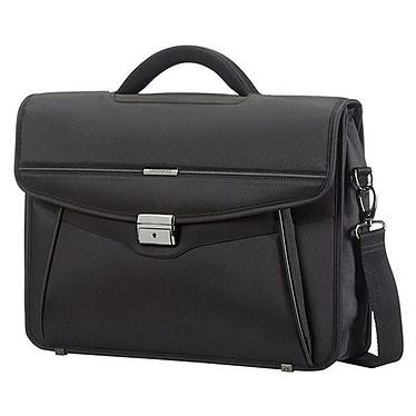 Samsonite Desklite Briefcase 1 Soufflet Noir