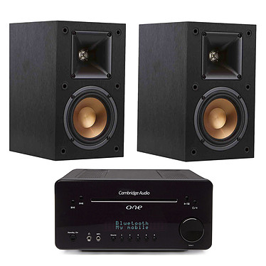 Cambridge One Noir + Klipsch R-14M