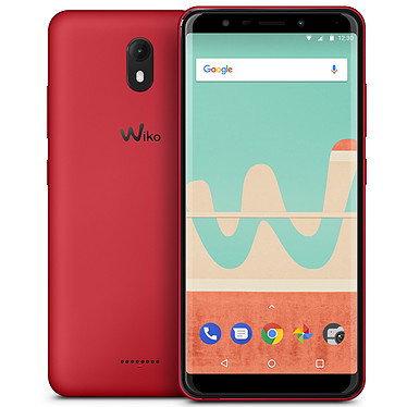 "Wiko View Go 16 Go Rouge Smartphone 4G-LTE Dual SIM - ARM Cortex-A53 Quad-Core 1.3 GHz - RAM 2 Go - Ecran tactile 5.7"" 720 x 1440 - 16 Go - NFC/Bluetooth 4.2 - 3000 mAh - Android 8.1"