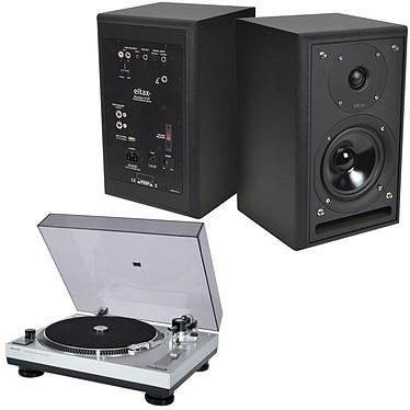 Sherwood PM-9805 + Eltax Monitor III BT Phono Noir Platine vinyle + Enceinte bibliothèque Bluetooth (par paire)