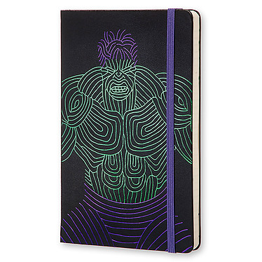 Moleskine The Avengers Hulk Ruled Large Noir  Carnet The Avengers Hulk à couverture rigide format large ligné - 13 x 21 cm