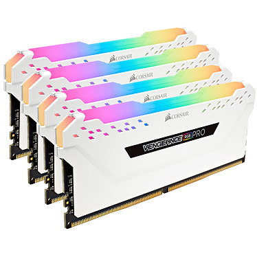 Corsair Vengeance RGB PRO Series 64GB (4x 16GB) DDR4 3000 MHz CL15 Quad Channel Kit 4 tiras de RAM DDR4 PC4-24000 - CMW64GX4M4M4C3000C15W (garantía de por vida de Corsair)