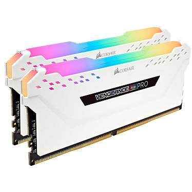 Corsair Vengeance RGB PRO Series 16 Go (2x 8 Go) DDR4 2666 MHz CL16 Kit Dual Channel 2 barrettes de RAM DDR4 PC4-21300 - CMW16GX4M2A2666C16W (garantie à vie par Corsair)