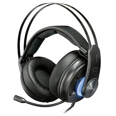 Trust Gaming GXT 383 Dion Casque-micro gamer - circum-aural fermé - son surround 7.1 virtuel - rétro-éclairage - microphone rétractable - USB/SPDIF - compatible PC et consoles