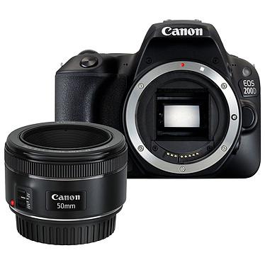 """Canon EOS 200D + Objectif EF 50mm f/1.8 STM Reflex Numérique 24.2 MP - Ecran tactile 3"""" - Vidéo Full HD - Wi-Fi/NFC - Bluetooth (boîtier nu) + Objectif à longueur focale fixe"""