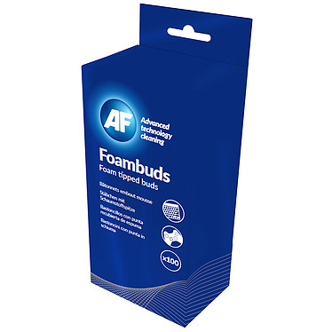 AF Foambuds Pack de 100 bâtonnets pour nettoyage les têtes de lecture/écriture et les lecteurs de bandes
