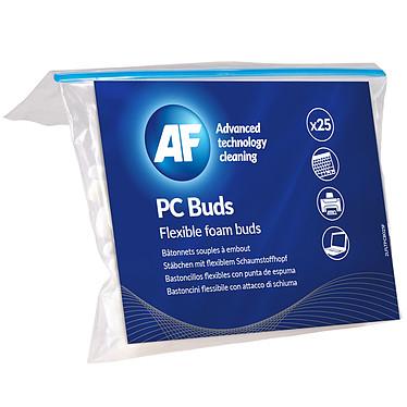 AF PC Buds Pack de 25 bâtonnets pour nettoyage de claviers et grilles d'aération