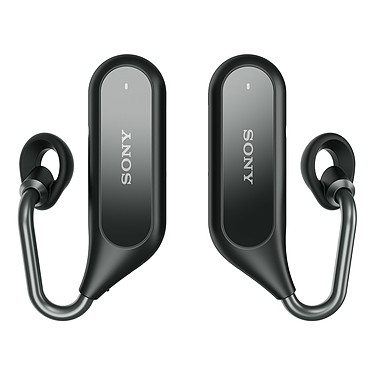 Sony Xperia Ear Duo Noir Oreillettes stéréo sans fil Bluetooth et NFC avec assistant vocal Google / Siri et étui de charge