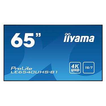 "iiyama 65"" LED - ProLite LE6540UHS-B1 3840 x 2160 pixels 16:9 - AMVA3 - 4000:1 - 8 ms - HDMI/VGA/DisplayPort - Haut-parleurs intégrés - Noir"