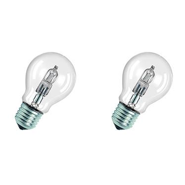 Lot 2 Ampoules Classic Superstar Standard Halogène Eco E27 77W (100W)